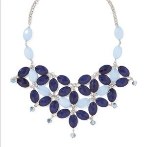 New bold blue Latice statement necklace